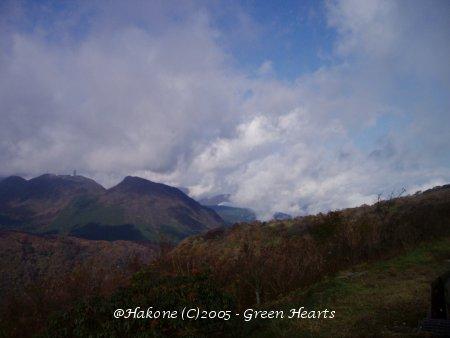 大観山より丹沢方面を望む